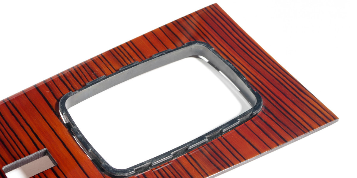 Mercedes w123 240d center shift cover wood trim top 1200