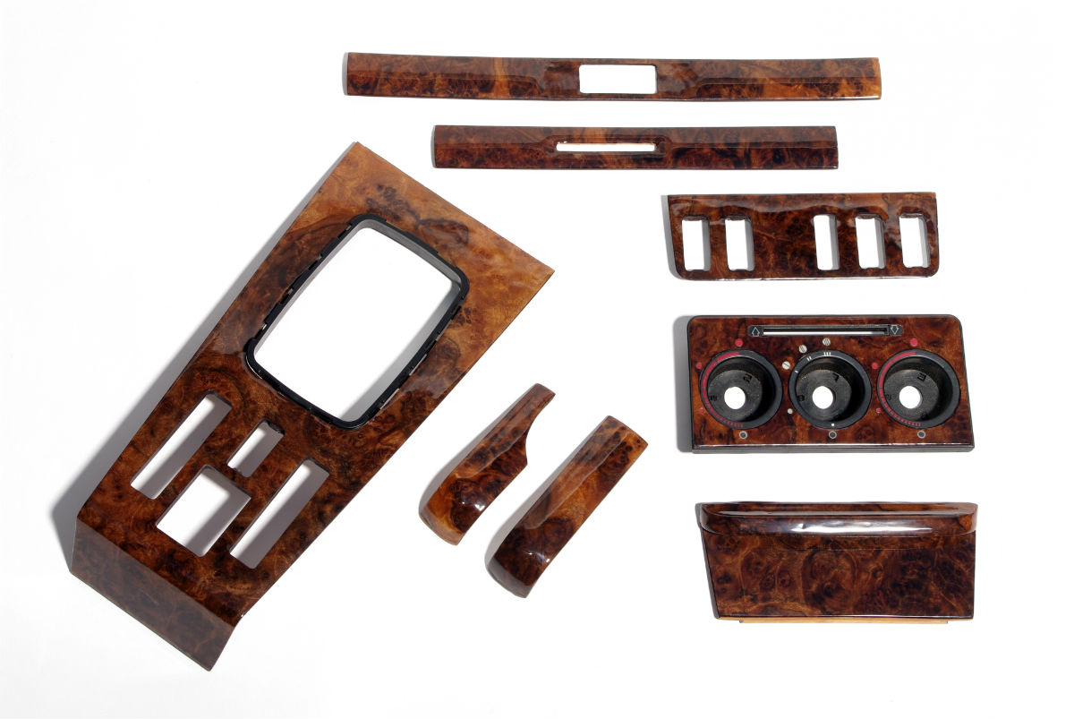mercedes w123 burl wood trim set 1200