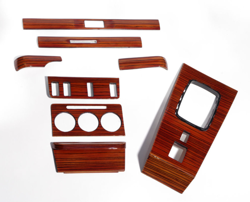 mercedes w123 zebrano 240d wood trim set 1200