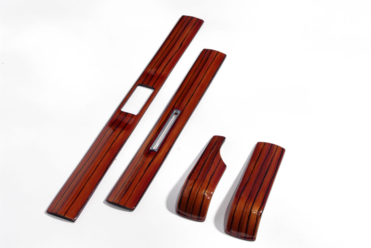 mercedes w123 zebrano dash board wood trim 1200