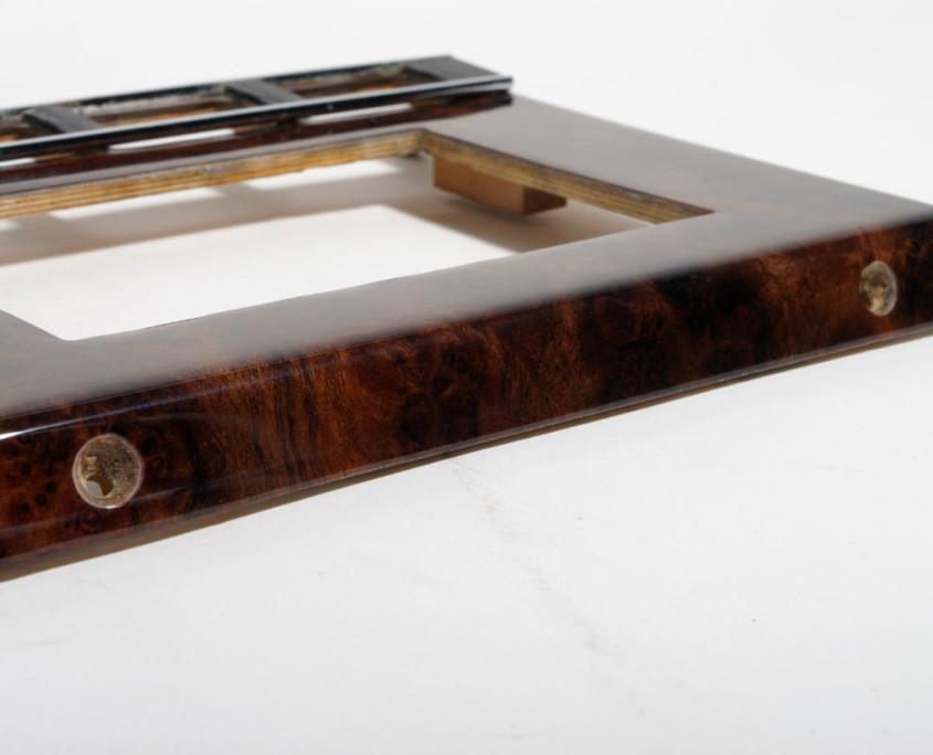 mercedes w116 burl wood AC climates control trim 3