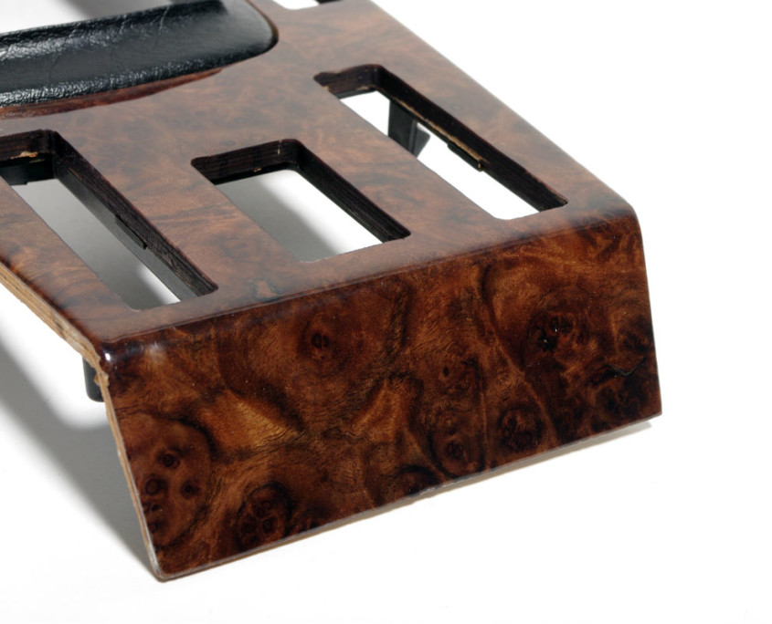 mercedes w116 burl wood center shift cover 6