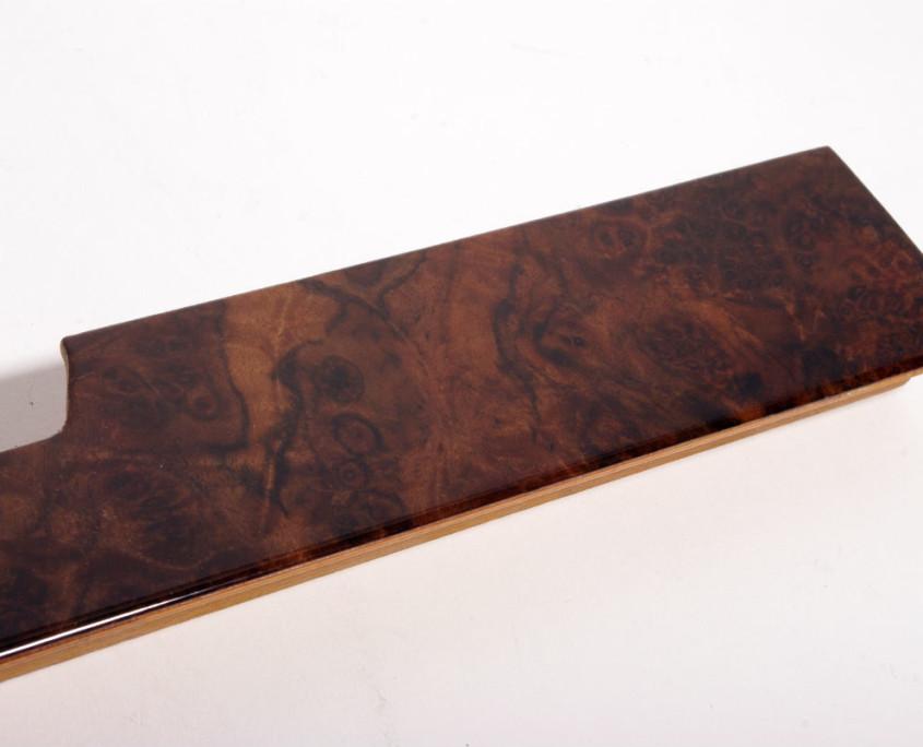 mercedes w116 burl wood glove box trim 2