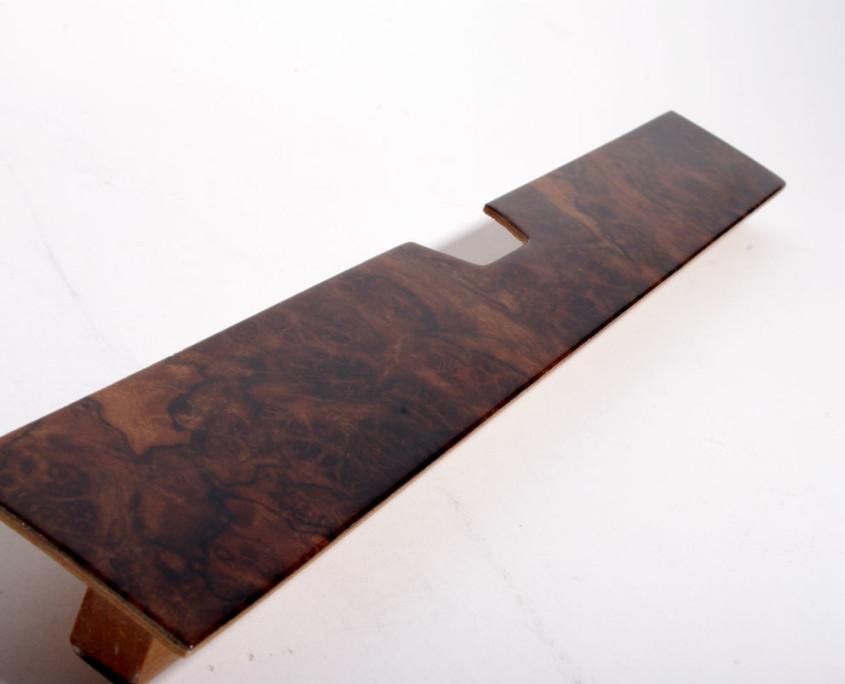 mercedes w116 burl wood  glove box trim 3