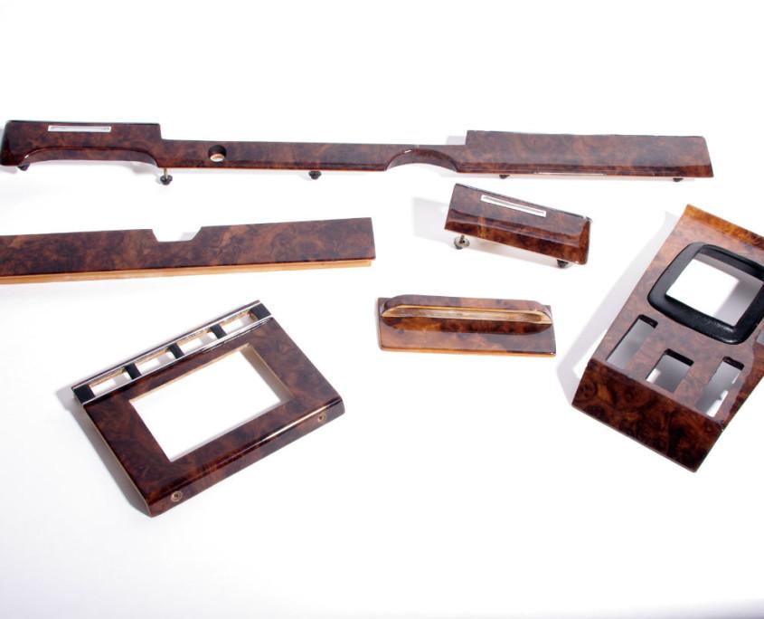 mercerdes w116 burl wood set restored