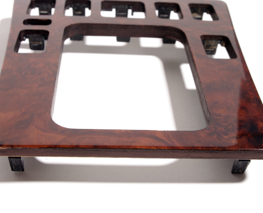 mercedes w201 burl wood center shif cover trim 1200 4