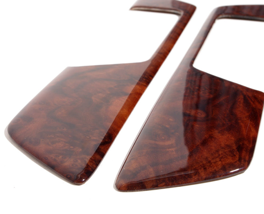 mercedes w201 burl wood door trim set 1200 6
