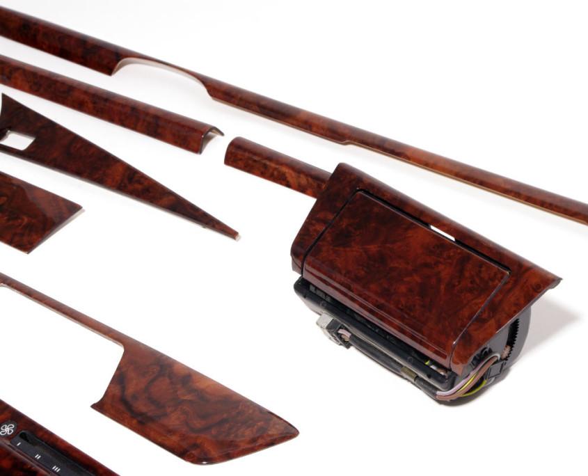mercedes w201 burl wood trim set 1200 4