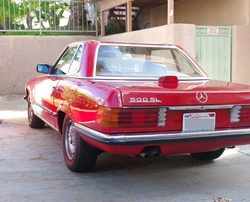 mercedes 500sl 1984 w107 rear