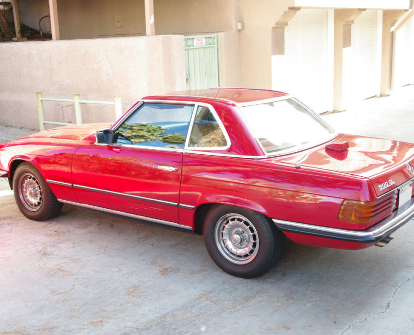 mercedes w107 500sl red 1984