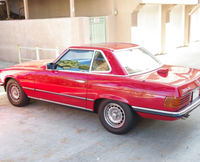 mercedes w107 500sl red 1984