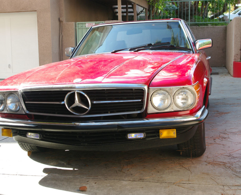 mercedes w107 500sl red