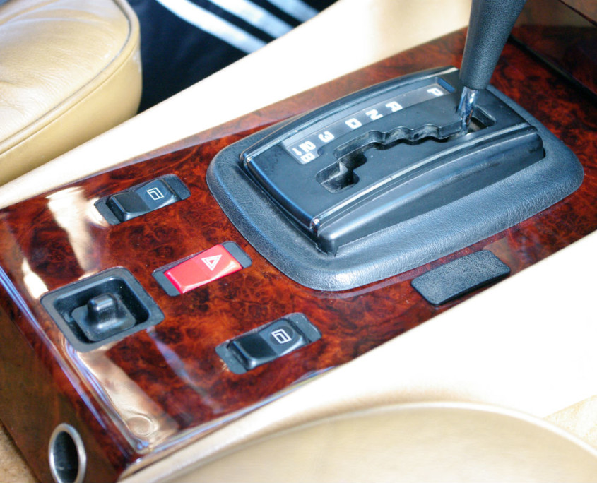 mercedes w107 500sl shift cover burl wood