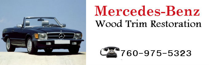 Mercedes  Auto Wood Trim Restoration for San Diego Los Angeles