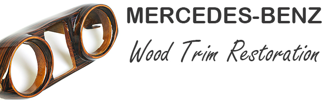 mercedes wood trim restoration
